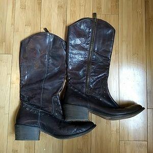 Vero Cuoio Brown Cowboy boots, Size 39